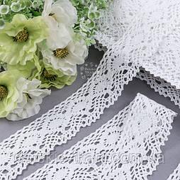 Бавовняне мереживо білого кольору шириною 4,2 см (1131)