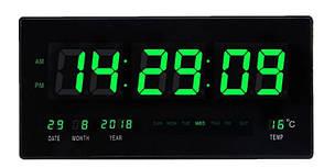 Настінний годинник з Led підсвічуванням 4622 Зелені