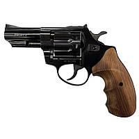 """Револьвер PROFI-3"""" під набої Флобера чорний/дерево  калібр 4мм"""