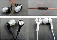 Проводные наушники с микрофоном Philips red