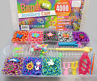 Резинки для плетения браслетов набор 4000 + 2 станка больших + крючок Rainbow Loom