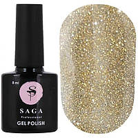 Світловідбиваючий гель-лак для нігтів Saga FIERY GEL №06, 8 мл