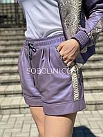 Кожаные шорты  со вставками из питона, фото 1