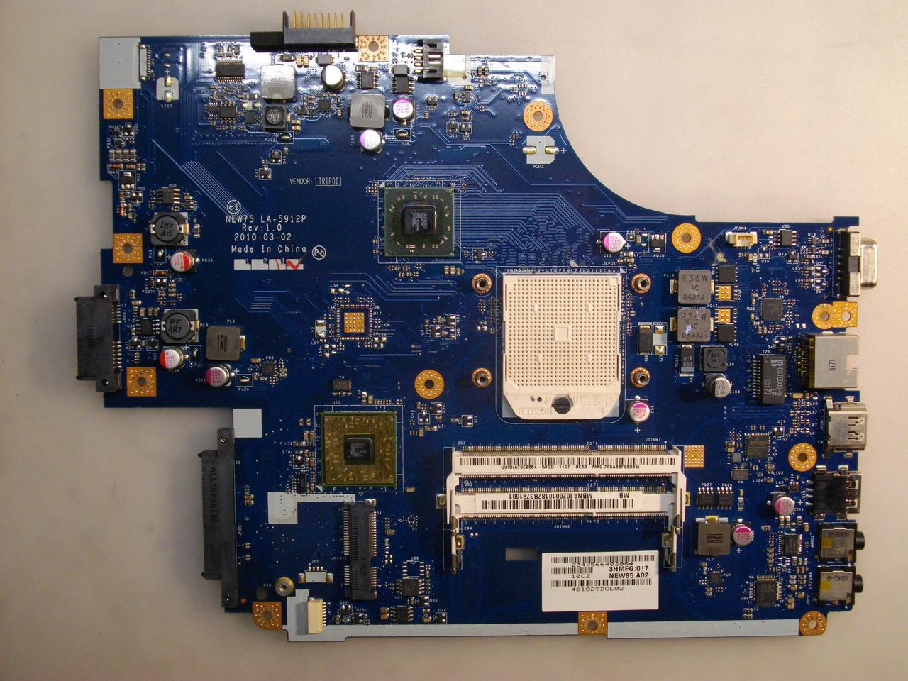 Материнская плата Acer Emachines E440, LA-5912P бу