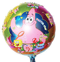 Фольгированный шар Губка Боб, Патрик, 45*45 см