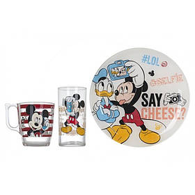 Набор детской посуды Luminarc Disney Party Mickey 3 пр L4871