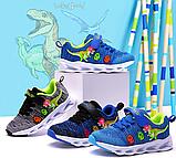 Dinoskulls. Літні LED кросівки з динозавром, фото 4