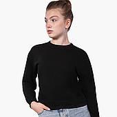 Свитшот для девочки Без принта (No print) (9509-1094) Черный