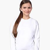 Свитшот для девочки Без принта (No print) (9509-1094-8) Белый