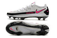 Футбольные бутсы Nike Phantom GT Elite FG White/Pink Blast/Black