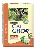 Сухой корм для кошек CAT CHOW ADULT Chicken&Turkey, 0,4 кг