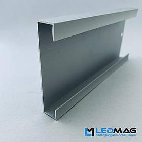 Плинтус для светодиодной ленты 70х15 мм 2,5 метра. Плинтус под светодиодную ленту