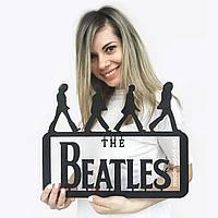 """Настенное панно из дерева """"The Beatles"""""""