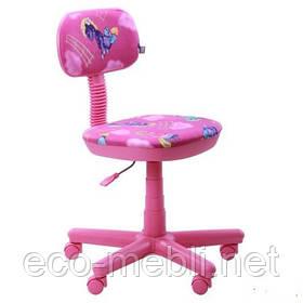 Дитяче поворотне крісло Світі рожевий
