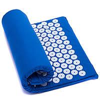 Коврик ортопедический массажный Ипликатор Кузнецова Zelart Acupressure mat 1709 65x40 см Blue