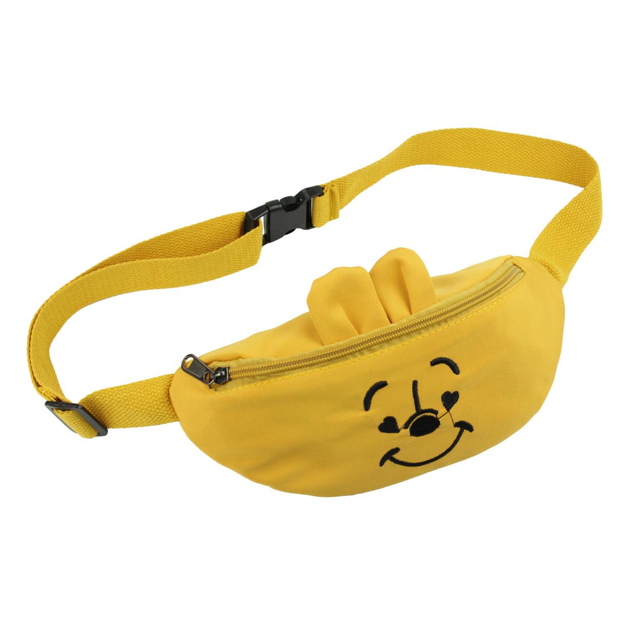 Дитяча сумка бананка на пояс Ведмежа, Жовта