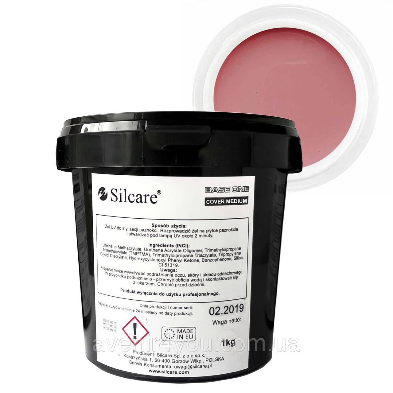 Гель Silcare Силкар Сover Medium Base One, 1 кг ОПТ