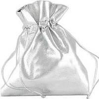 Мешочек подарочный из серебряной парчи 10x12 см