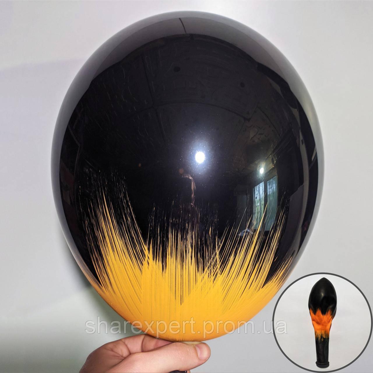 Помаранчевий на Чорних латексних кульках