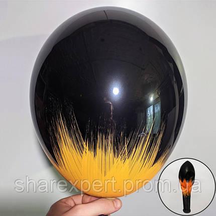 Помаранчевий на Чорних латексних кульках, фото 2