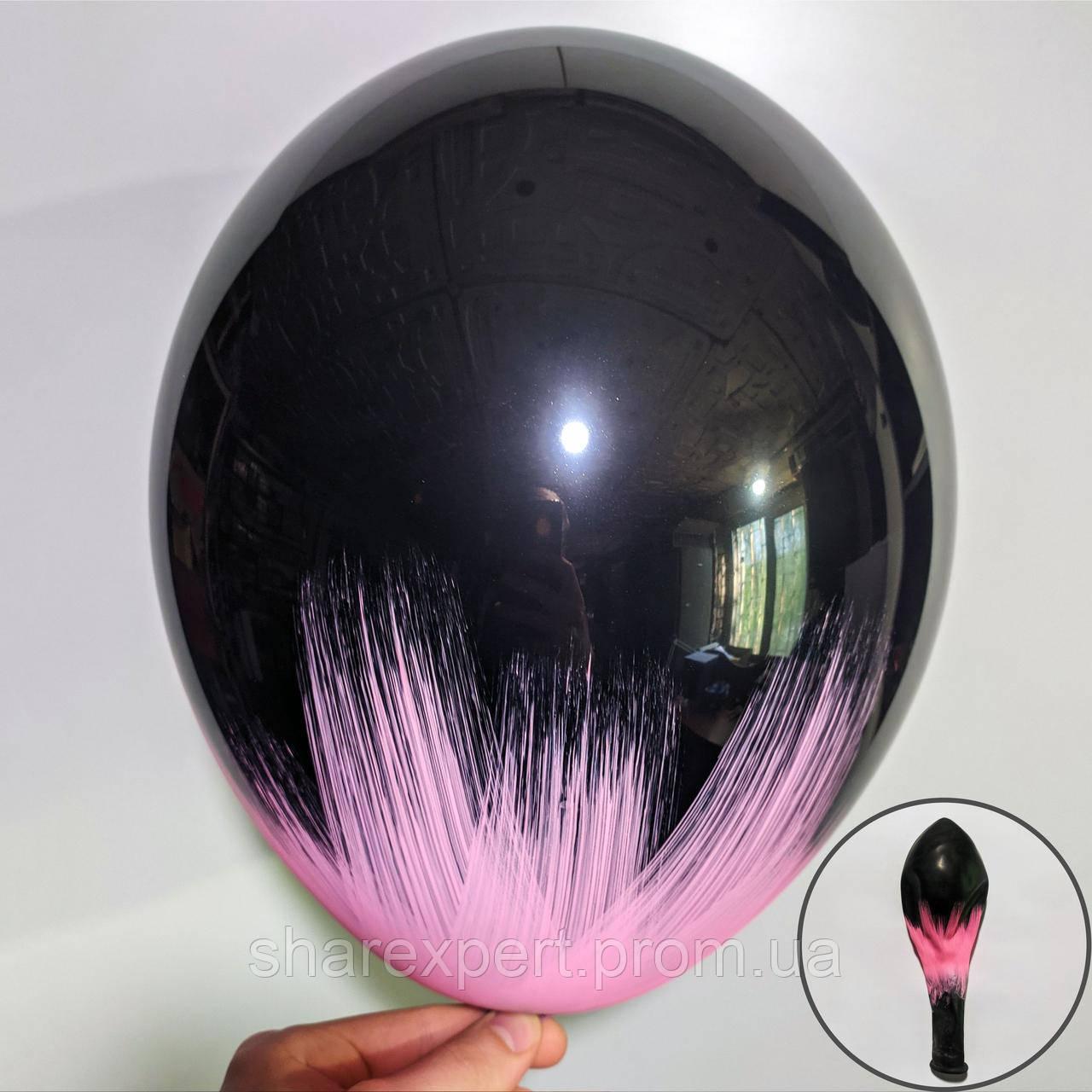 Рожевий на Чорних латексних кульках