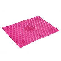 Коврик пазл ортопедический массажный резиновый Zelart 4601 38,5x28см Pink