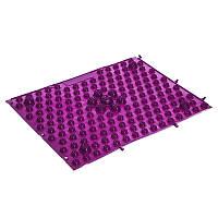 Коврик пазл ортопедический массажный резиновый Zelart 4601 38,5x28см Violet
