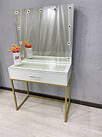 Білий туалетний столикв стилі лофт Модель V518