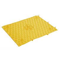 Коврик пазл ортопедический массажный резиновый Zelart 4601 38,5x28см Yellow