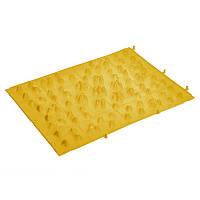 Коврик пазл ортопедический массажный резиновый Zelart 5082 38x27см Yellow