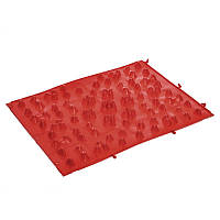 Коврик пазл ортопедический массажный резиновый Zelart 5082 38x27см Red