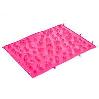 Коврик пазл ортопедический массажный резиновый Zelart 5082 38x27см Pink