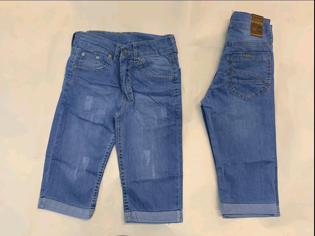 Бриджи джинсовые для мальчиков 6-10 лет