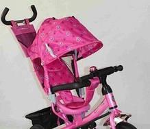 Детский трехколесный велосипед Azimut Trike  BC-17B розовый надувные колеса, фото 3