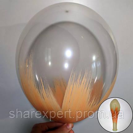 Бежевый на Прозрачных латексных шарах, фото 2