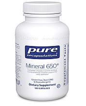 Pure Mineral 650 / Комлекс минералов 650 мг 180 капс