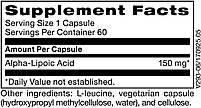 Klaire Alpha-lipoic acid / Альфа-липоевая кислота 150мг 60, фото 2