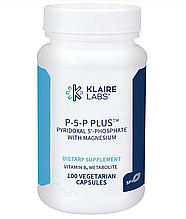 Klaire P-5-P Plus (Pyridoxal 5'-Phosphate with Magnesium) / P-5-P с магнием 100 капс