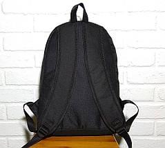 Чоловічий | жіночий міський, спортивний рюкзак, портфель New Balance, нью бэланс. Блакитний з чорним, фото 3