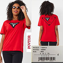 Футболка в стиле Prada AMN Турция люкс Новая коллекция! Красная
