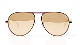 Модные солнечные очки капельки от солнца авиаторы мужские с поляризацией и металлической оправой, фото 4
