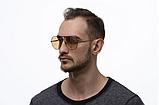 Модные солнечные очки капельки от солнца авиаторы мужские с поляризацией и металлической оправой, фото 3