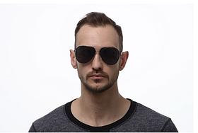 Модные солнечные очки капельки от солнца авиаторы мужские с поляризацией и металлической оправой