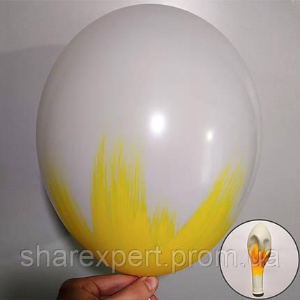 Желтый на Белых латексных шарах, фото 2