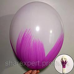 Фиолетовый на Белых латексных шарах