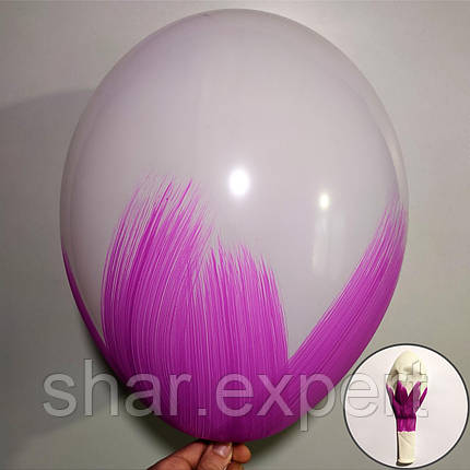 Фіолетовий на Білих латексних кульках, фото 2