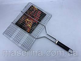 Сетка для гриля с деревянной ручкой 30x45