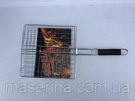 Сетка для гриля с деревянной ручкой 30x30