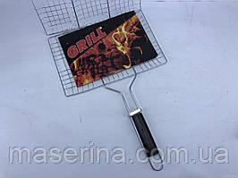 Гриль-сетка с деревянной ручкой 35x22