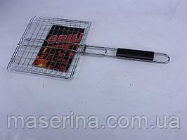 Сетка для гриля с деревянной ручкой 25x25